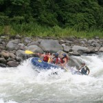 Cimarrones on the Pacuare River is a great rapid for river rafting in Costa Rica.