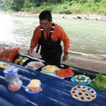 Enjoy lunch alongside the Pacuare River in beautiful Costa Rica.