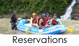 Reservations for Pacaure River Costa Rica